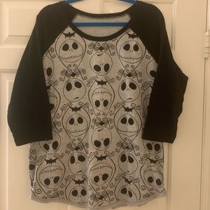 NWOT DISNEY NIGHTMARE BEFORE CHRISTMAS 2 sided top